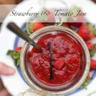 Easy Strawberry Tomato Jam with Vanilla