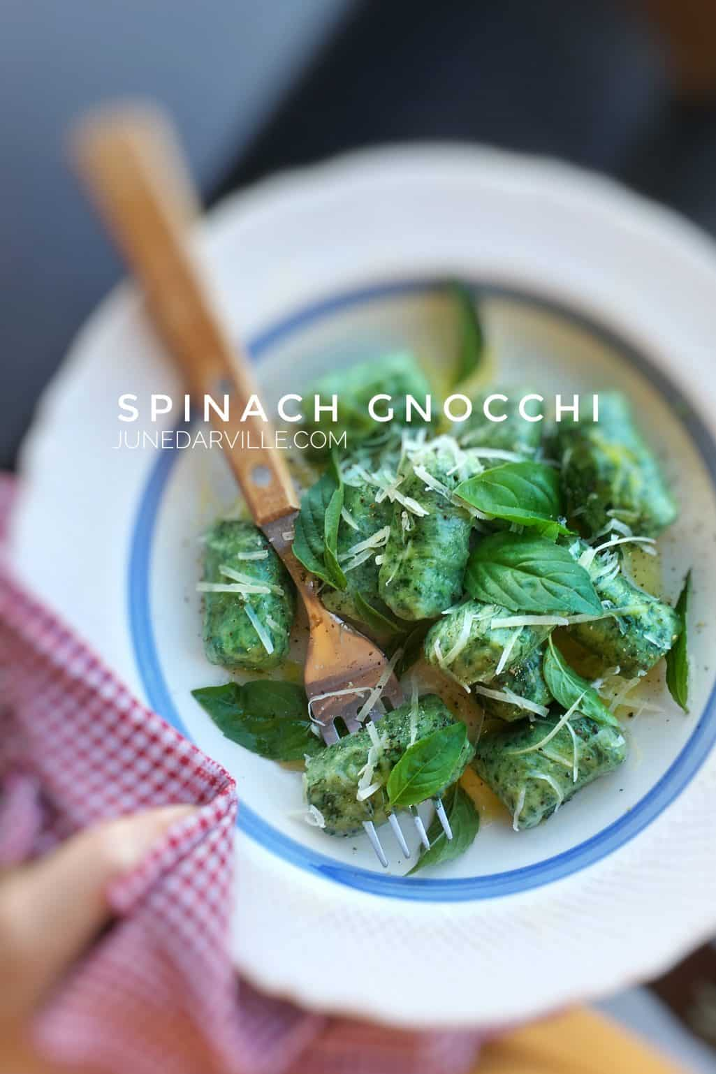 Watch my video of how I'm preparing these perfect potato spinach gnocchi recipe in my KitchenAid Stand Mixer Mini, from scratch!