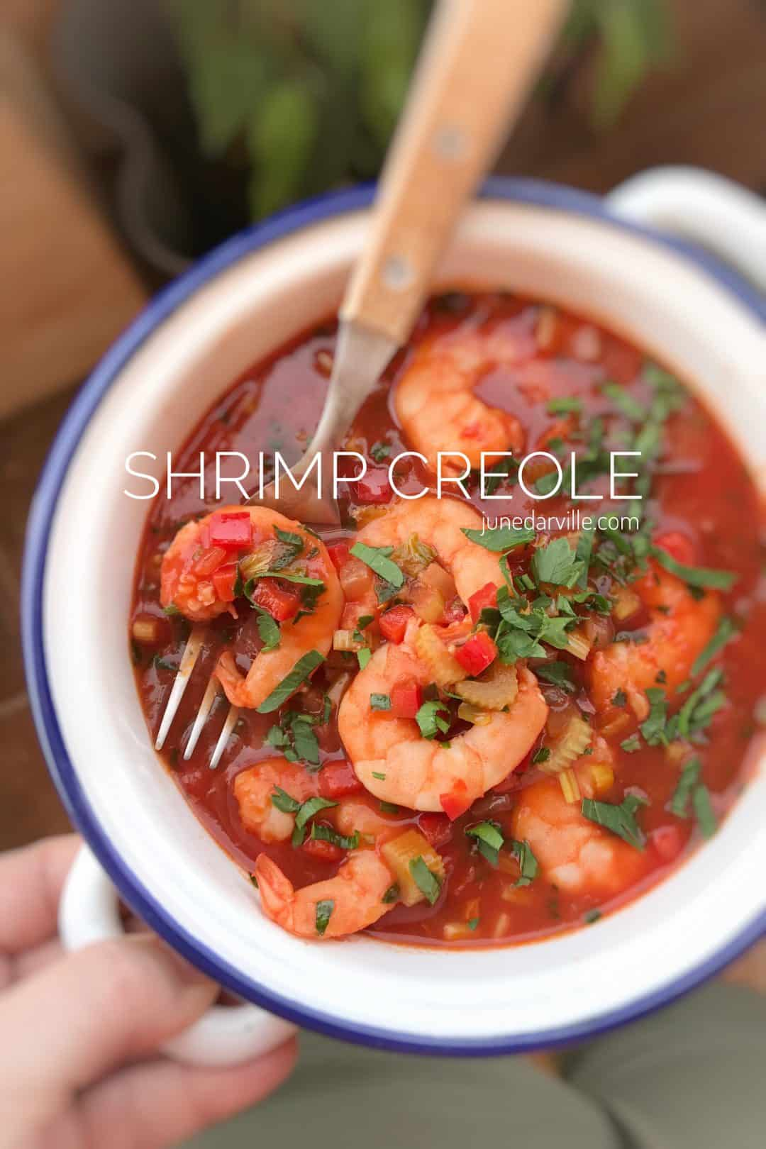 This shrimp creole recipe is a Creole dish of cooked shrimp in a sauce of tomatoes, onion, garlic, celery, bell pepper and cayenne pepper!