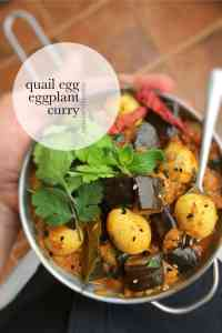 Eggs are a great vegetarian alternative. How about this spiced quail egg and eggplant curry recipe for dinner tonight?