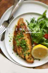 A classic sole meuniere recipe: here's a delicious pan fried French dover sole with a quick and easy lemon and butter sauce!