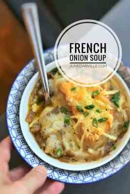 Easy French Onion Soup with Cheese Toast