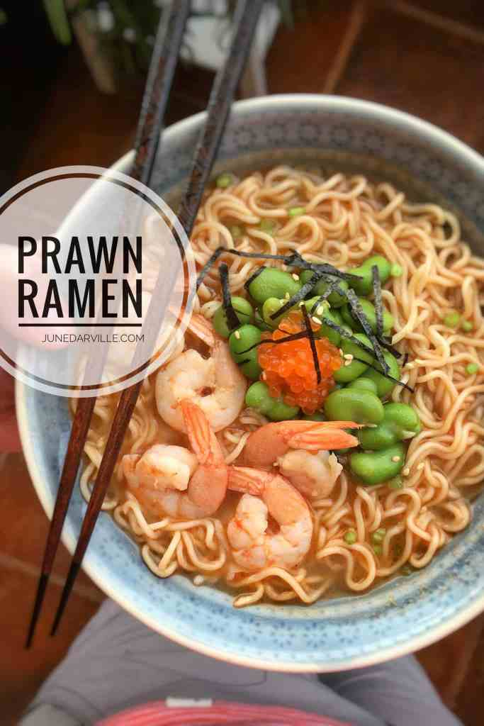 Do try out my simple ramen soup recipe with a homemade prawn broth... That's the best prawn broth ever! This ramen soup bowl also makes a delicious Asian lunch.