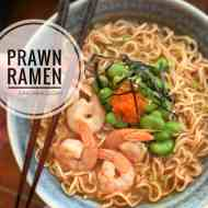 Easy Ramen Soup Recipe with Prawns & Roe