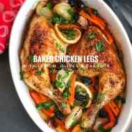 Easy Baked Chicken Legs with Lemon & Carrots