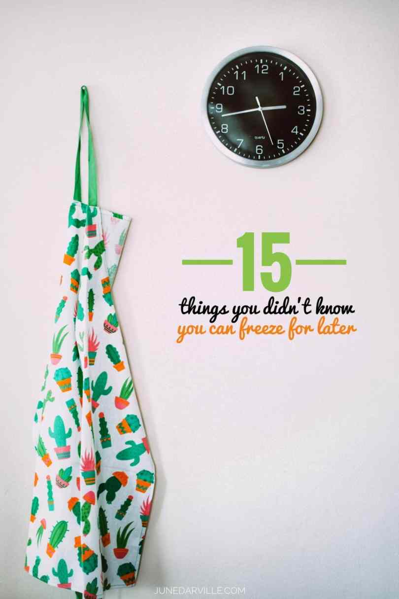 You don't want to throw them out? Here's 20 things you didn't know you can freeze