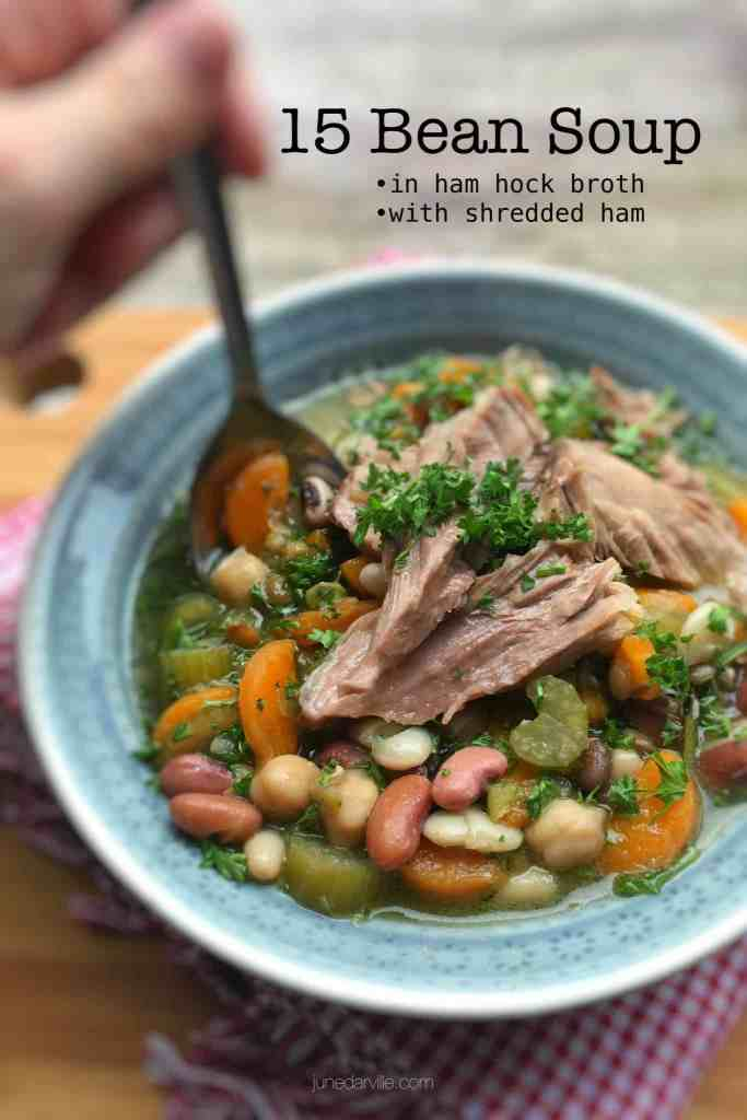 Do try out my very popular 15 bean soup with a gorgeous fatty chunk of ham hock in it. What a flavor bomb! And a great winter dish for bean and meat lovers...