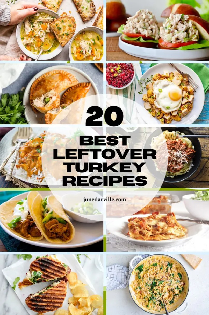 Leftover Thanksgiving or Christmas roast turkey? Here are the 20 best leftover turkey recipes to make! Get creative with leftovers.