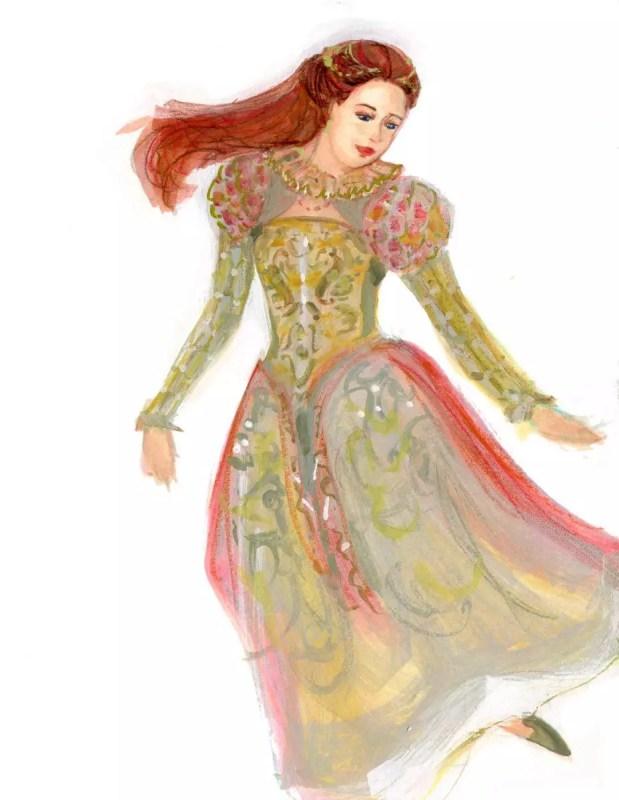 World Dance Illustration of Lavolta Renaissance - Elizabethan dance