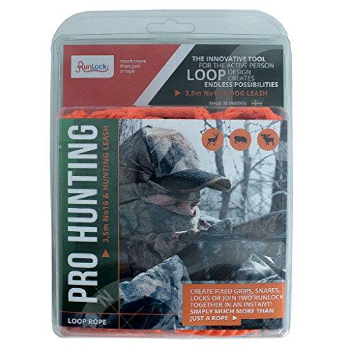 RunLock Unisex Pro Jagd Set Seil mit Schlaufen, Orange, 3,5MTR