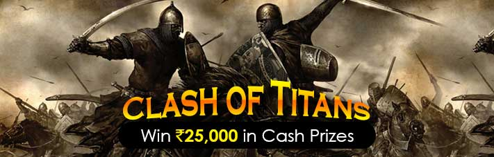 rummy contest clash of titans