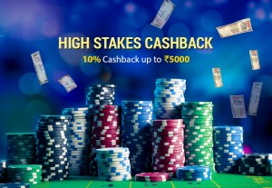high stakes rummy cashback
