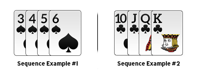 Sequence in Rummy Example