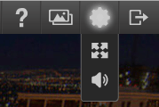 Toggle full screen and Mute