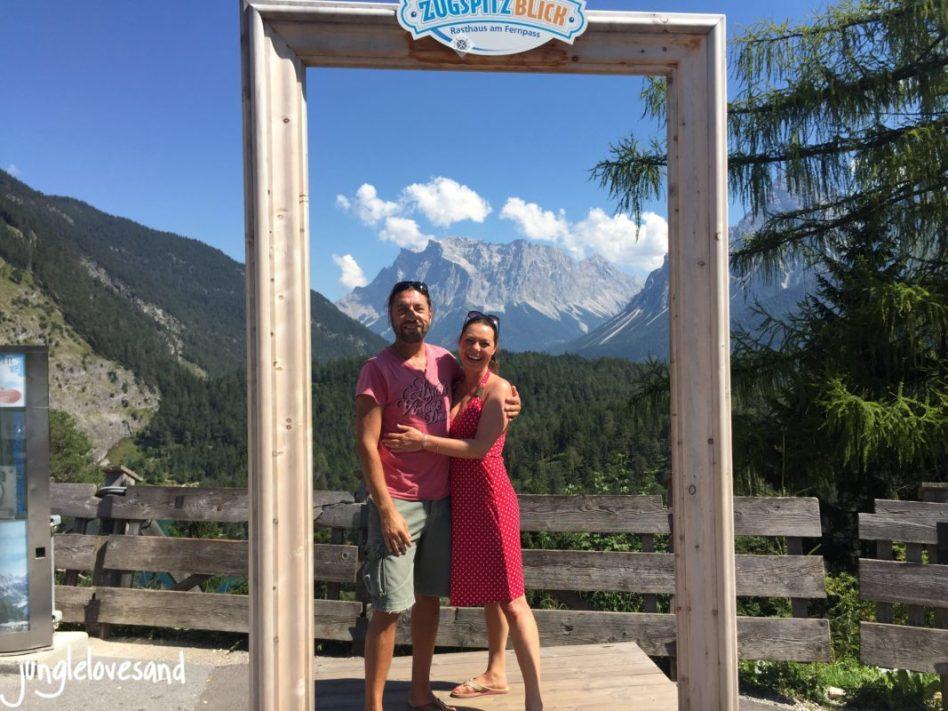 Alpen 1. Etappe 27.8. Austria Fernpass mit Zugspitzblick (2)