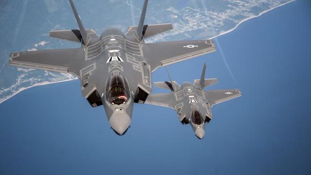 Image montrant un F-35 squadron