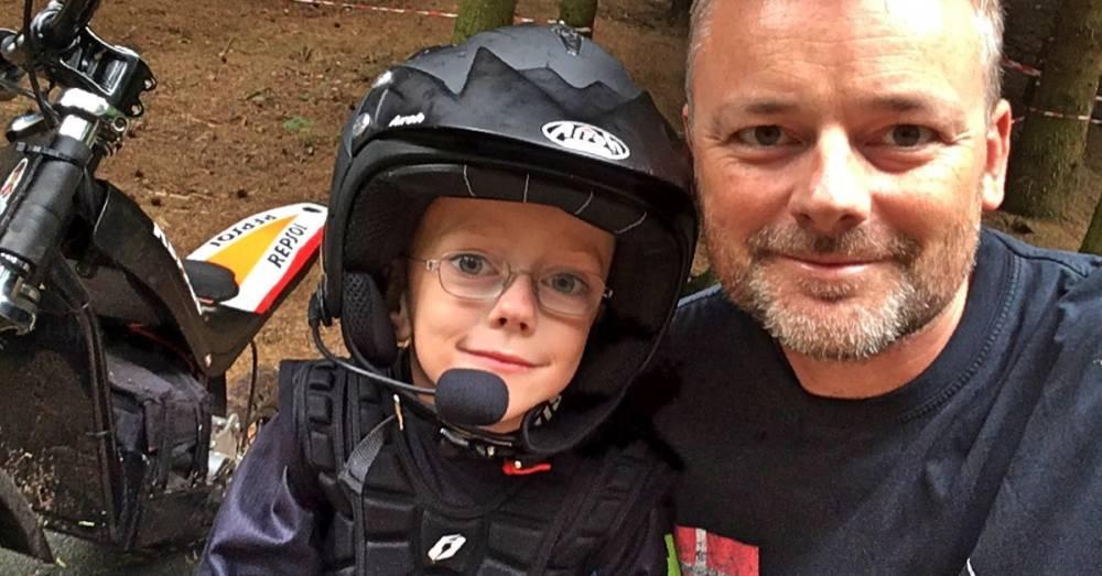Far og søn til Trial - verdens bedste sport til intruduktion af børn til motorcykel sport