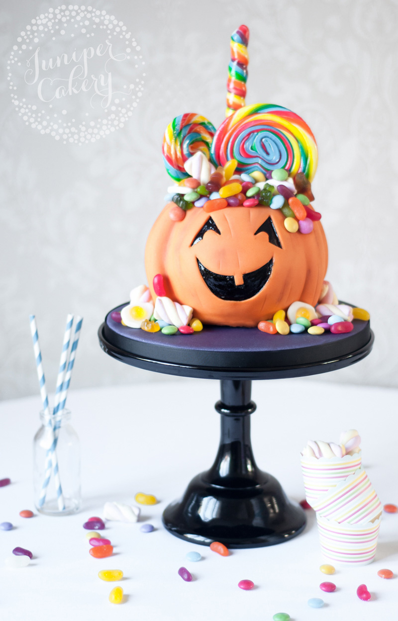 Pumpkin Candy Cake Tutorial by Juniper Cakery