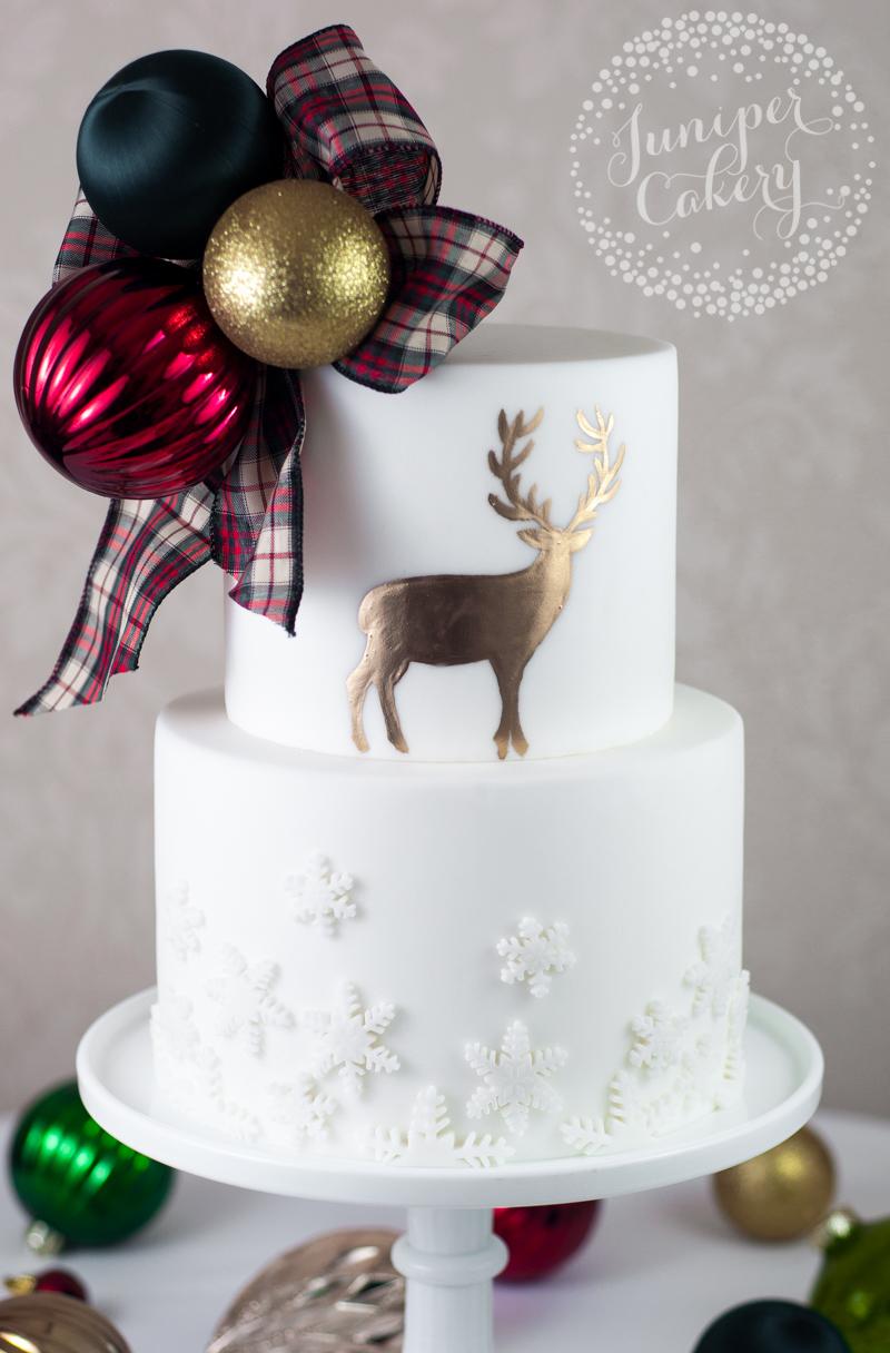 Festive highland Christmas cake by Juniper Cakery