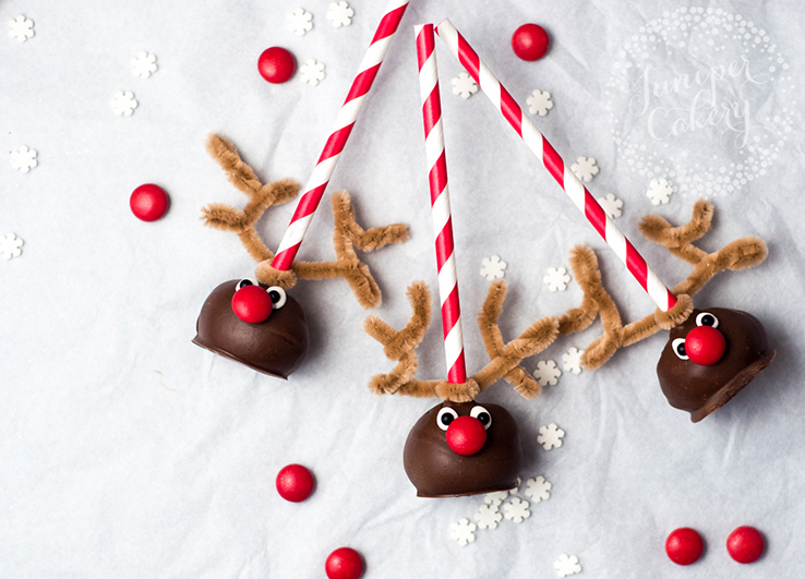 How to make reindeer cake pops for Christmas