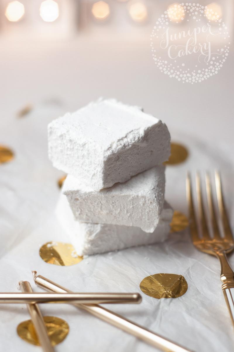 Homemade vanilla marshmallows by Juniper Cakery