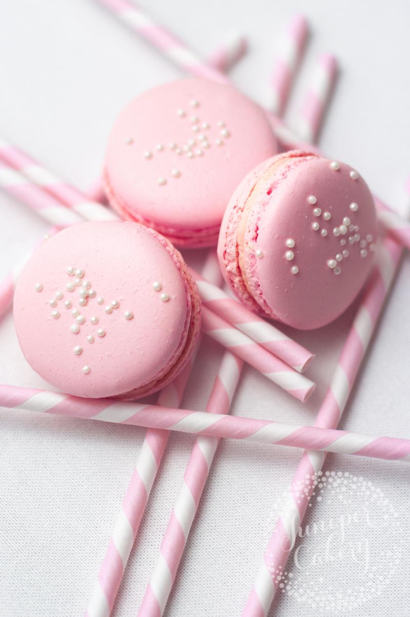 Pink Lemonade macarons by Juniper Cakery