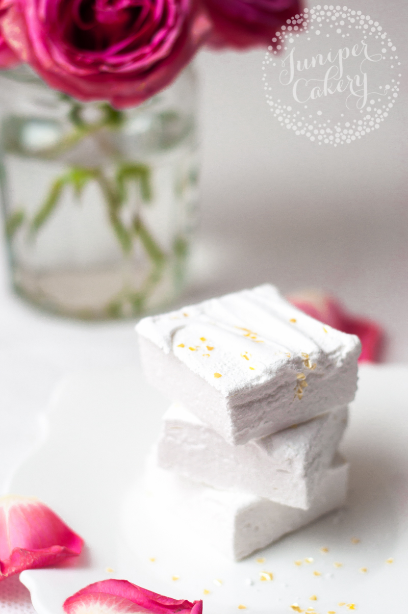 White champagne marshmallows by Juniper Cakery