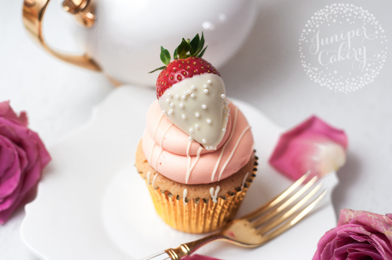 Valentine Strawberry Milkshake Cupcake by Juniper Cakery