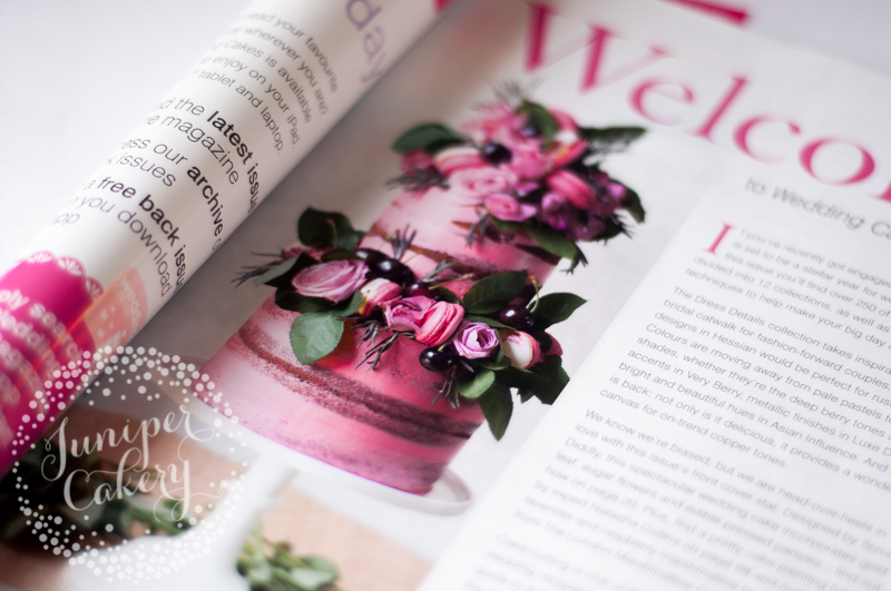 Pink Naked Cake by Juniper Cakery in Wedding Cakes Magazine