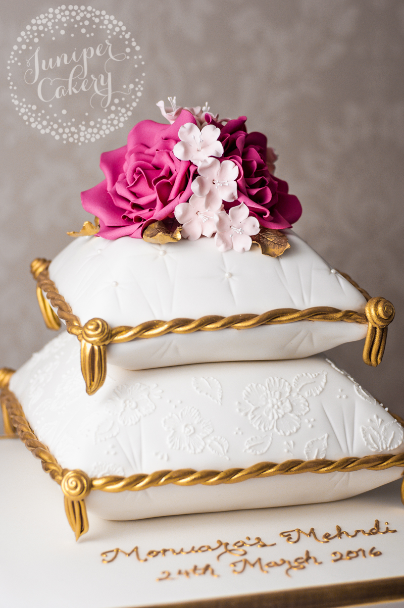 pillow wedding cake mehndi cake archives juniper cakery bespoke cakes in 18514