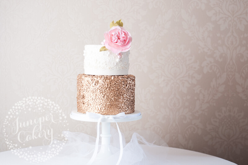 Marchesa inspired wedding cake by Juniper Cakery