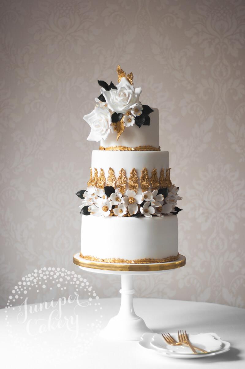 Rococo wedding cake by Juniper Cakery