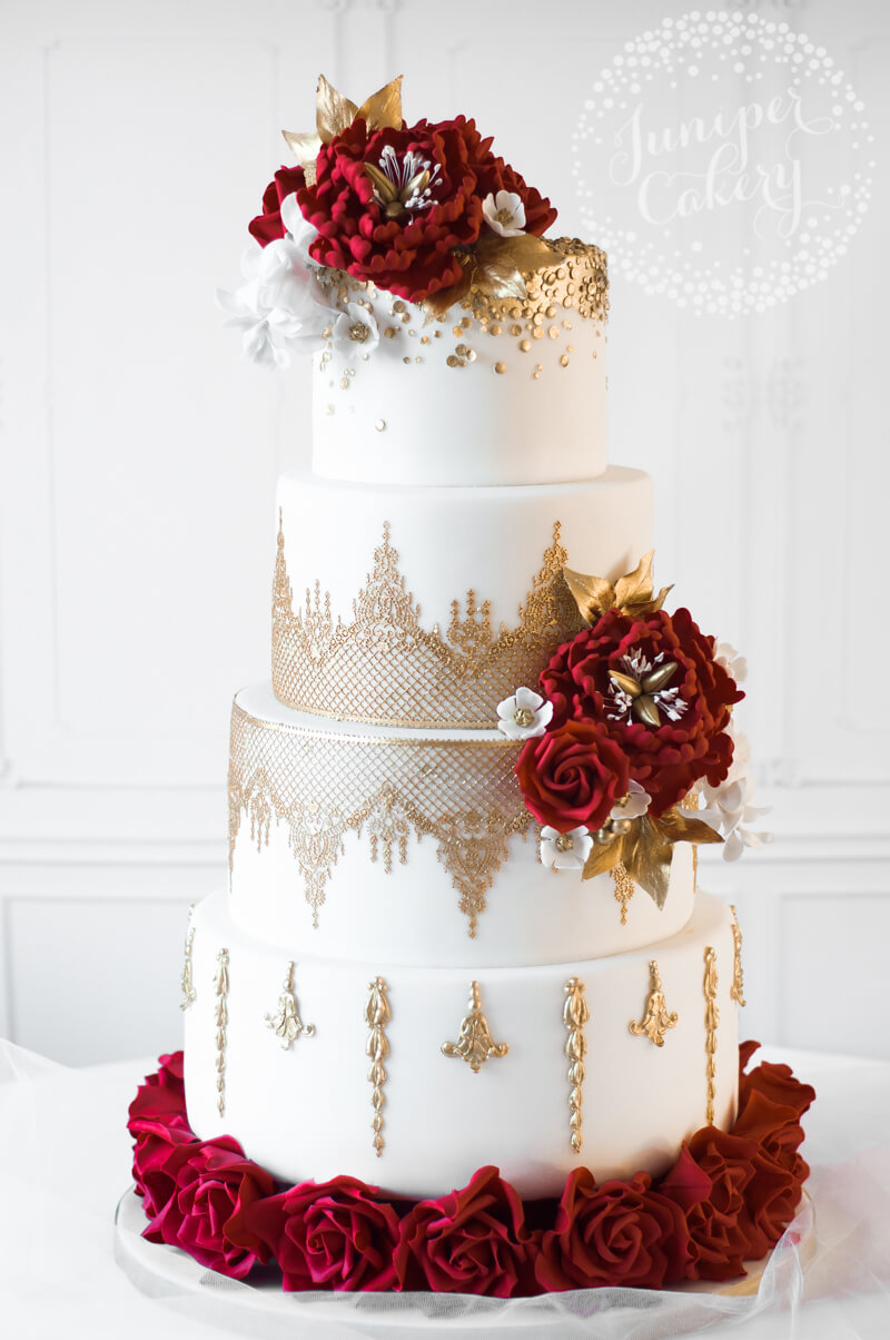 Black White And Red Wedding Cake Ideas