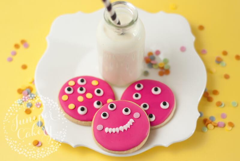 Easy monster cookies tutorial by Juniper Cakery