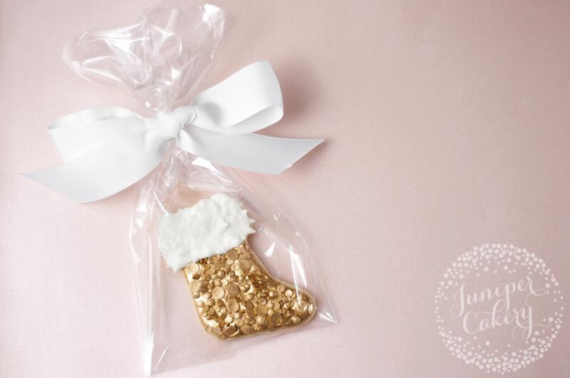 Stylish Christmas stocking sugar cookie tutorial