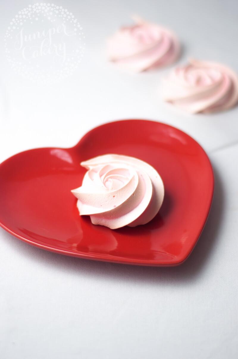 Fun Valentine's Day pavlova recipe by Juniper Cakery
