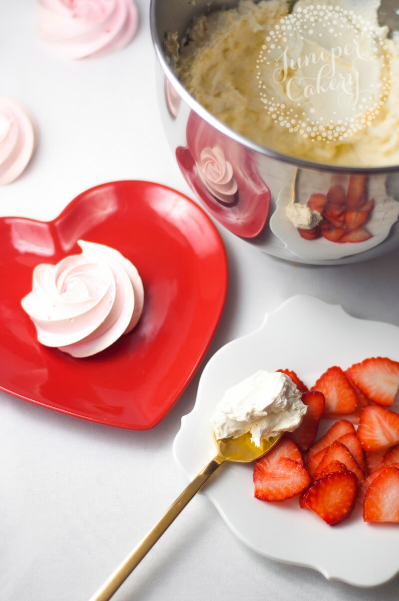Pink Valentine pavlova recipe by Juniper Cakery