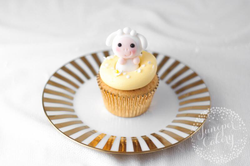 Cute little lamb cupcake by Juniper Cakery