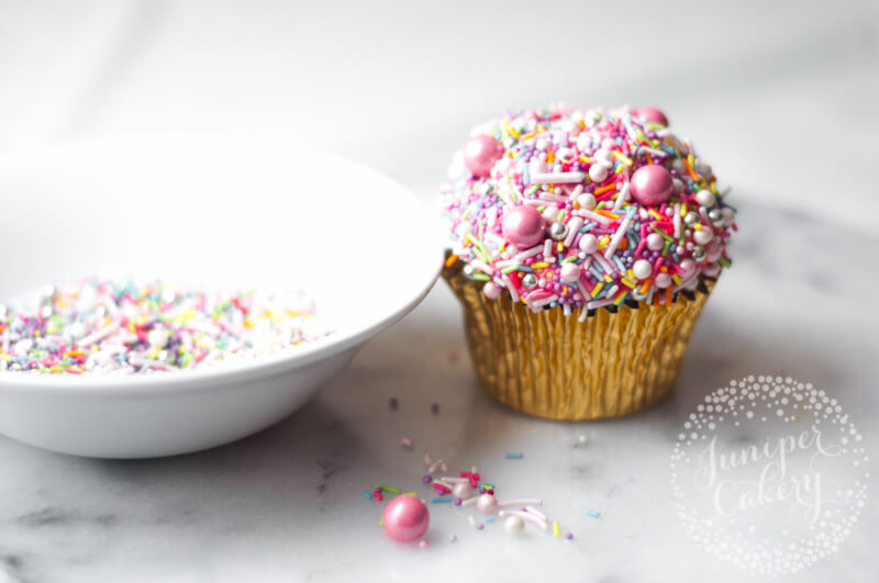 Rainbow sprinkle cupcake by Juniper Cakery