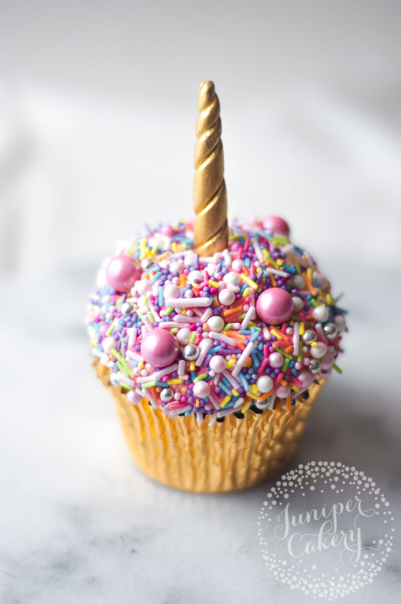 Ridiculously easy unicorn cupcake tutorial by Juniper Cakery