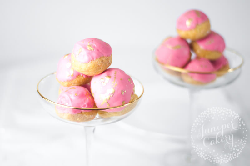Cute Strawberry Milkshake Cream Puffs recipe from Juniper Cakery