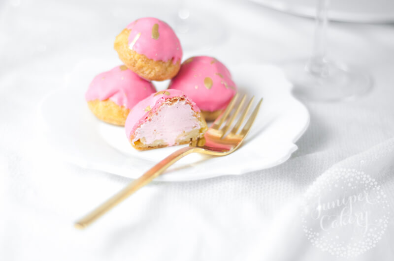 Cute Strawberry Milkshake Cream Puffs recipe by Juniper Cakery