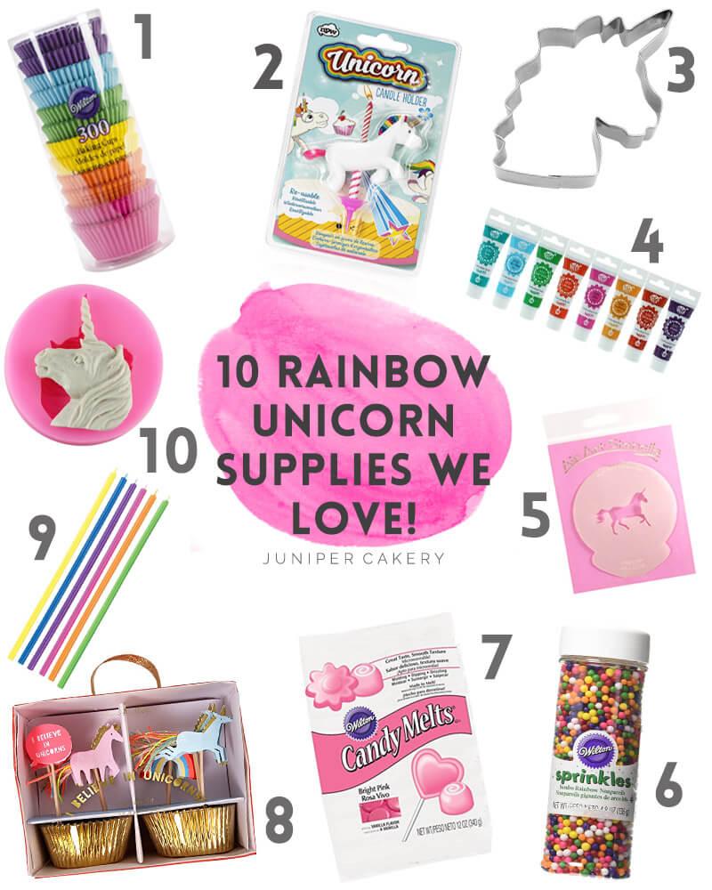 10 Rainbow Unicorn Baking Tools we LOVE