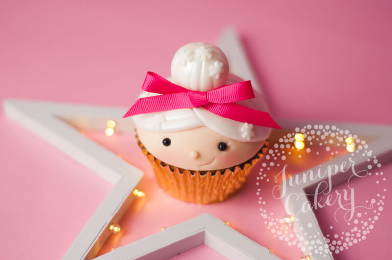 Try this cute Mrs Claus cupcake tutorial Juniper Cakery created for Benefit Cosmetics UK
