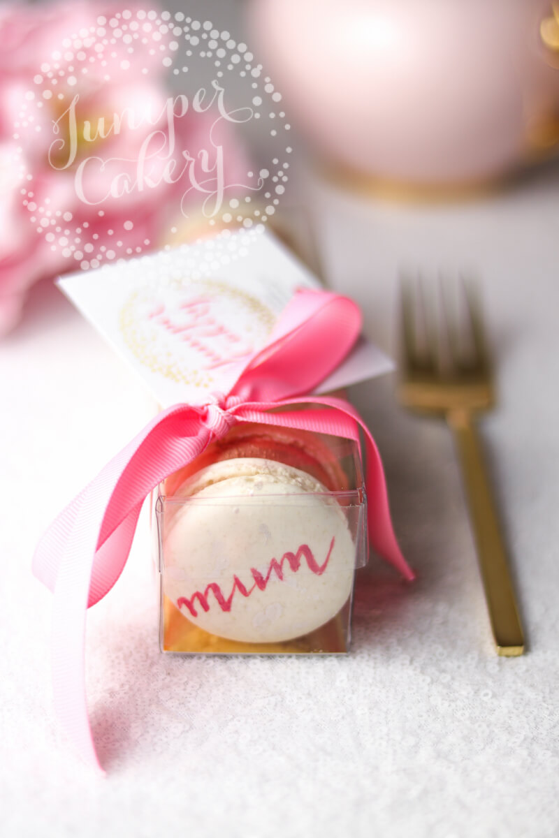 Happy Mother's Day macarons in Hull by Juniper Cakery