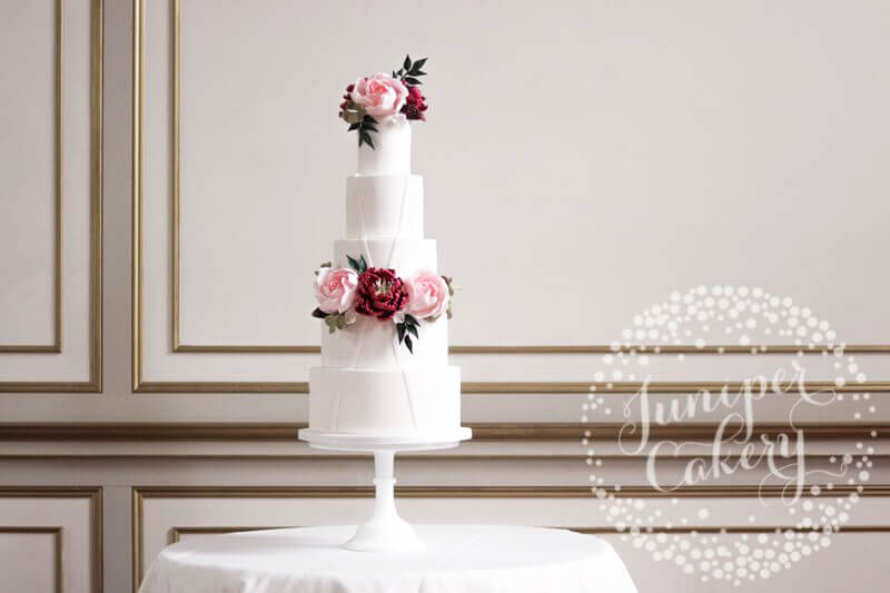Modern Garden wedding cake for Rise Hall by Juniper Cakery