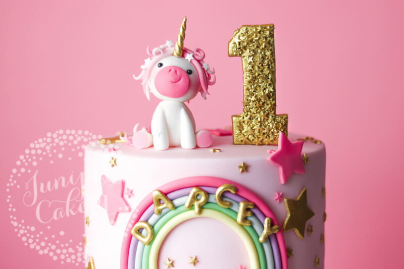 Pretty in pink unicorn cake by Juniper Cakery
