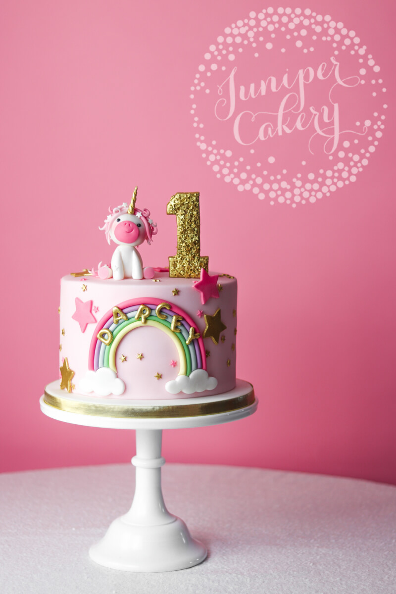 Pink unicorn cake by Juniper Cakery