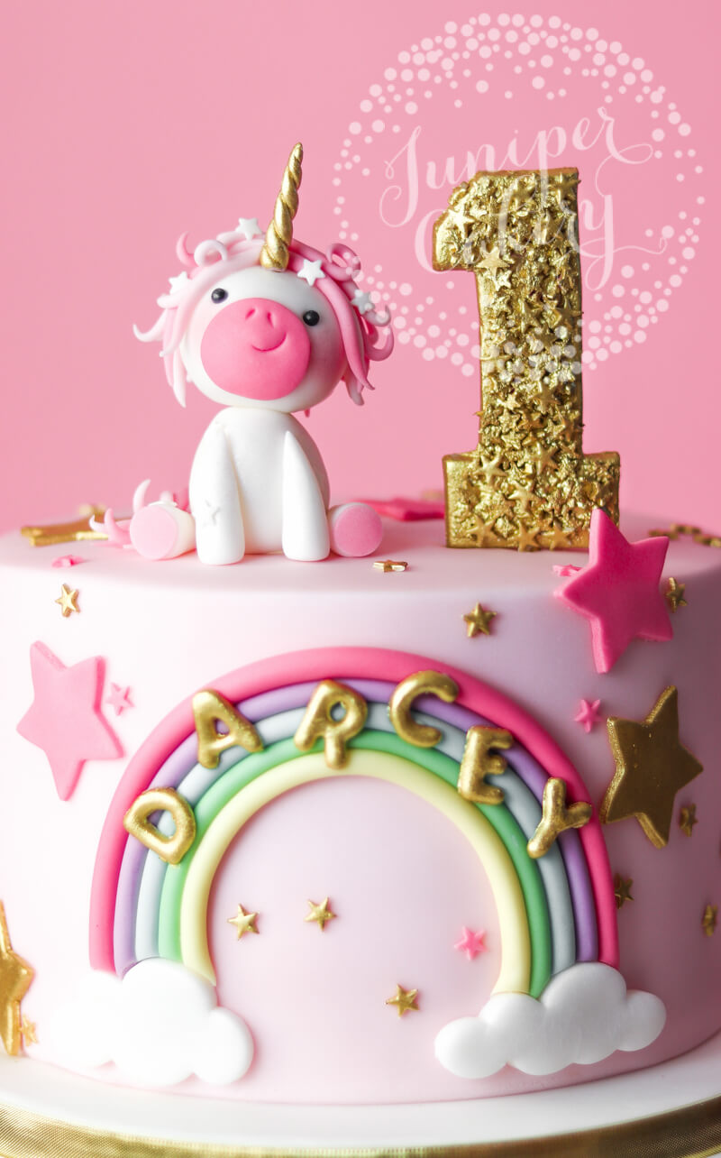 Unicorn cake by Juniper Cakery