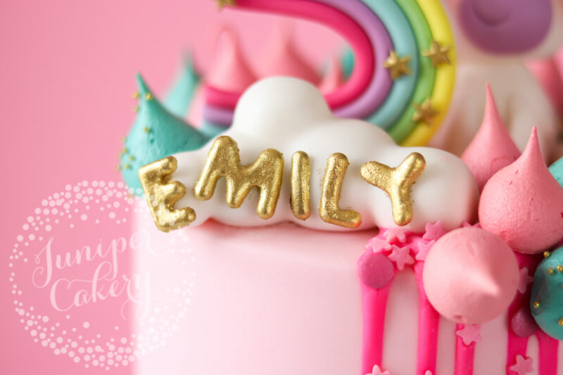 Super Cool Rainbow Birthday Cake by Juniper Cakery
